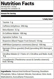 Redcon1 Total War Pre Workout Vice City (30 Servings) Nutrition Facts