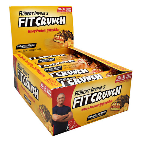 Robert Irvine's Fit Crunch Bar (12 Bars) — Caramel Peanut