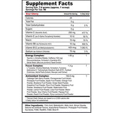 G Fuel Sour Cherry Tub (40 Servings) Supplement Facts
