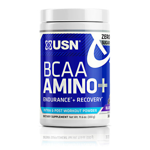 USN BCAA Amino Plus Blue Raspberry (30 Servings)