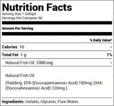 USN Vibrance Omega-3 Fish Oil (90 Softgels) Nutrition Facts