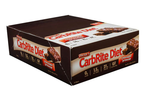 Universal Nutrition Doctor's CarbRite Diet Chocolate Brownie (12 Bars)