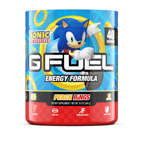 G Fuel Sonic Peach Rings 40 Servings