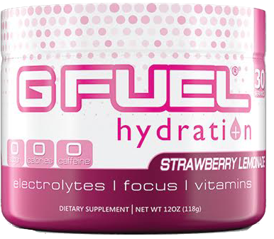 G Fuel Hydration Formula Strawberry Lemonade Tub (30 Servings)