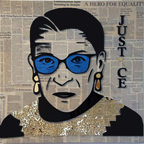 RBG - Gold Mixed Media