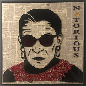 Notorious RBG Red 25x25