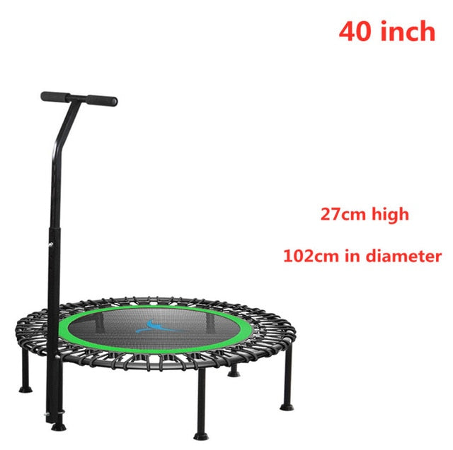 40 inch Mini Trampoline with Adjustable Handle, rebounder