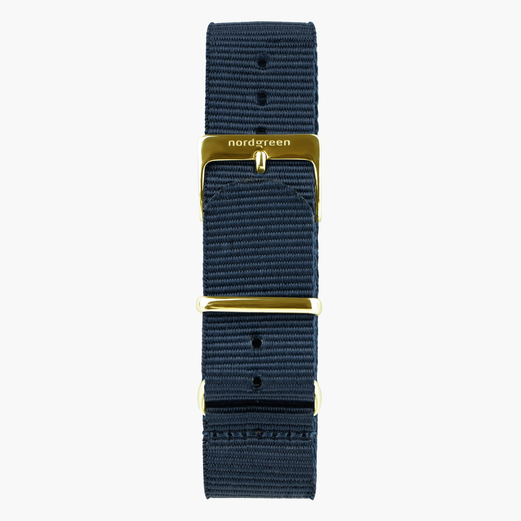 Image of   Navy Blå Nylon - Guld - 40mm/42mm