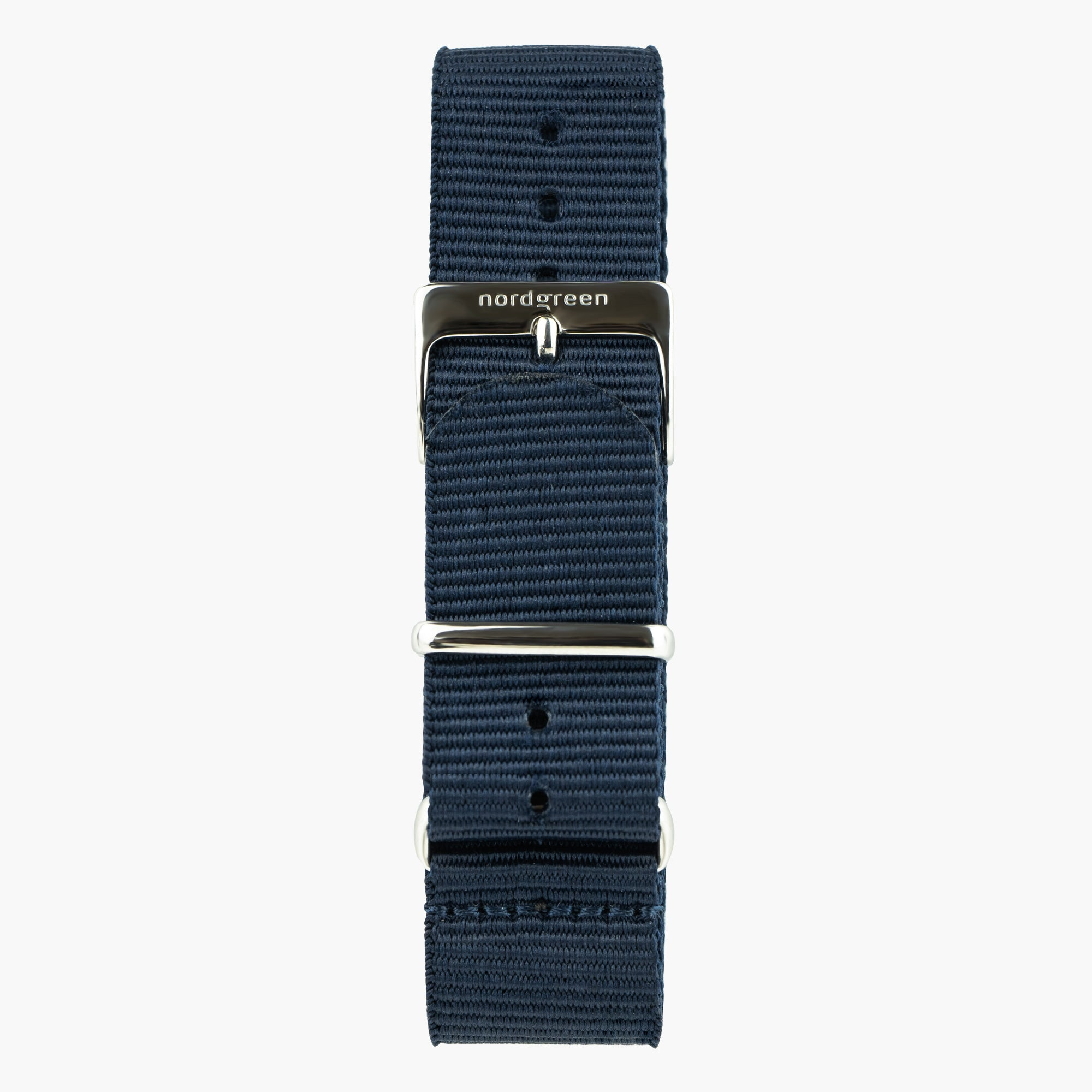 Image of   Navy Blå Nylon - Sølv - 36mm