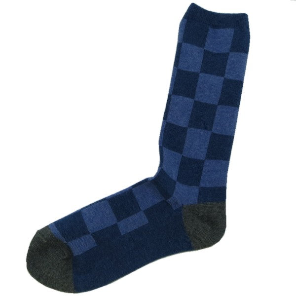 Small Stone Square Pattern Socks S