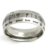 Amazing Grace Music Silver Ring