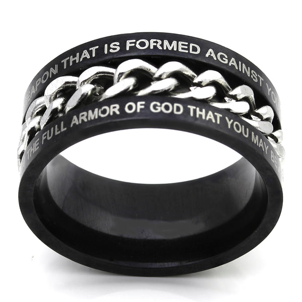 Black Chain Ring - Armor of God