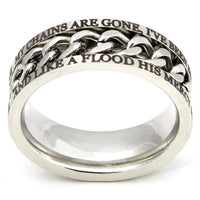 Silver Chain Ring - Freedom Ring