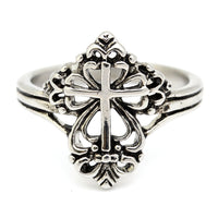 Filigree Cross Ring