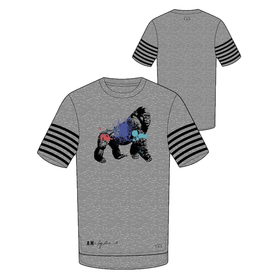 Black on Gray - T-Shirt