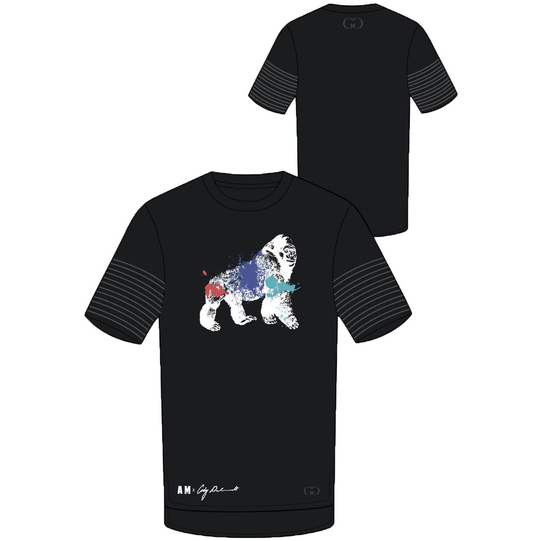 AM x CG Gorilla Tee (BLACK WITH BLACK)
