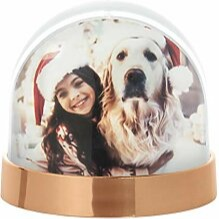 Metallic copper snow globe