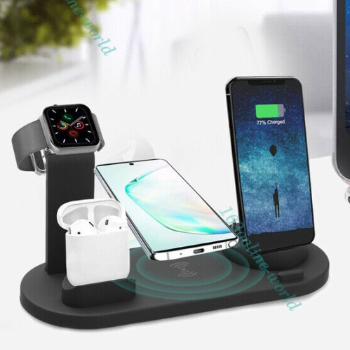 3in1 Qi Wireless Charger Fast Charging Dock Stand for Apple