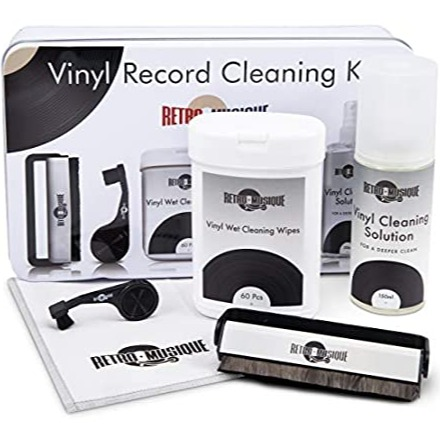 Vinyl Record Cleaning Kit in Tin