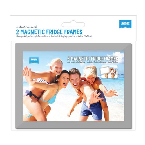 Magnetic Fridge Frame Silver 2 pack