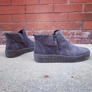Gabor Dreamvelour Grey Chelsea Sneaker Bootie