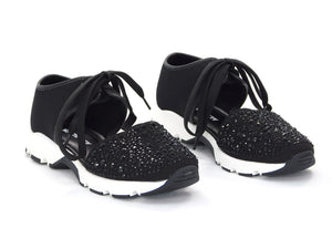 All Black Amazing Gems Sneaker - Sneakers - All Black - shoostore