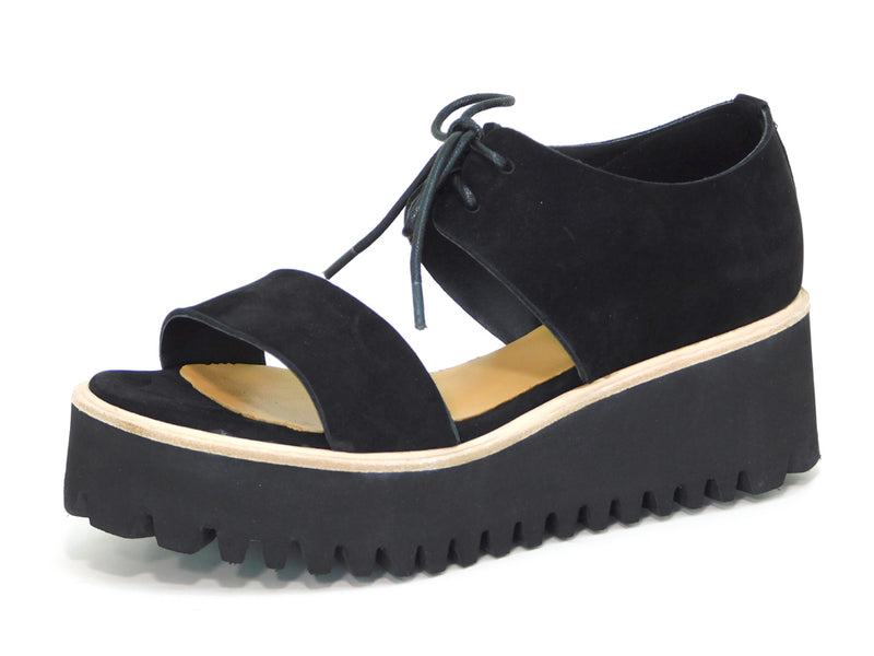 All Black Flatform Band - Sandals - All Black - shoostore