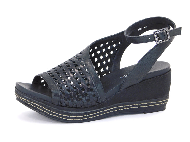 Antelope D27 Tyla Black Wedge - Sandals - Antelope - shoostore