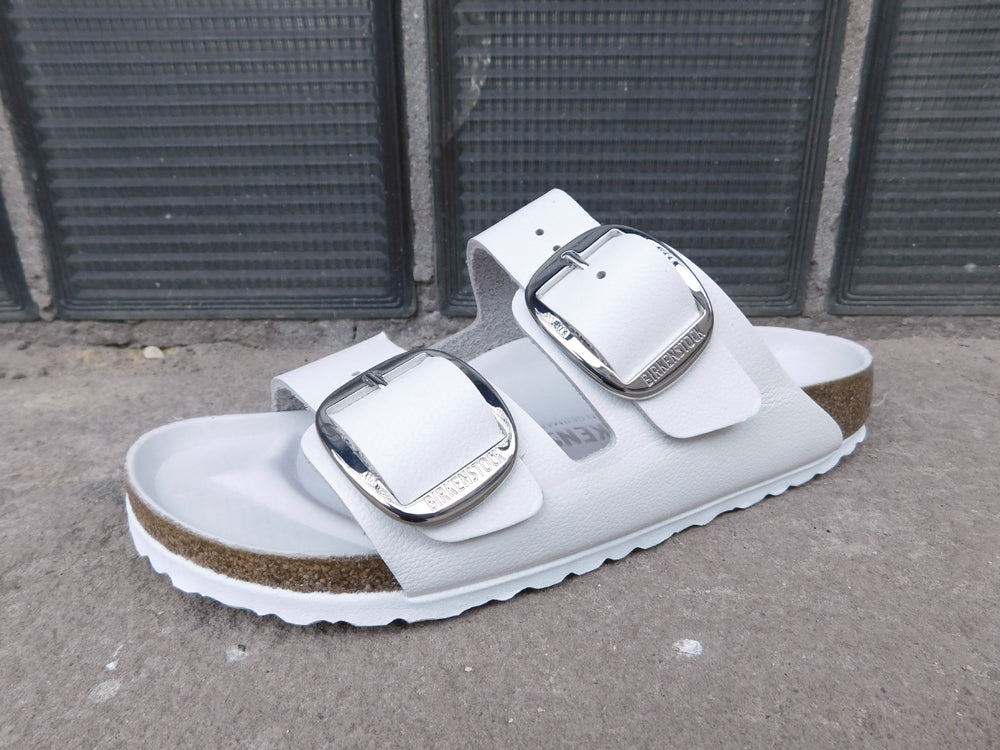 Birkenstock Arizona Big Buckle White - Sandals - Birkenstock - shoostore