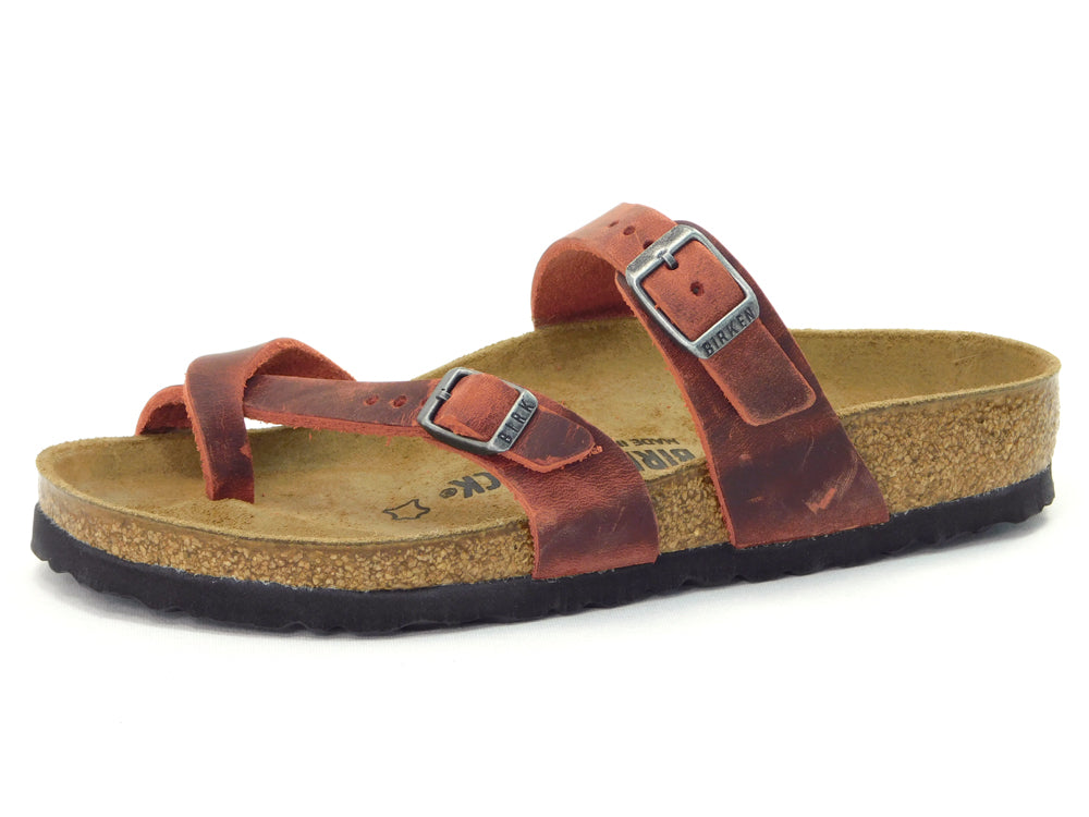 Birkenstock Mayari Earth Red Oiled Leather - Sandals - Birkenstock - shoostore