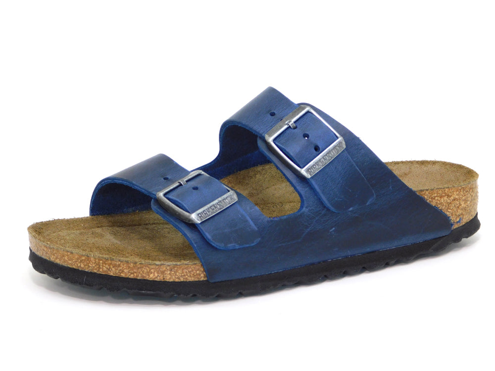 Birkenstock Arizona Blue Oiled Leather - Sandals - Birkenstock - shoostore