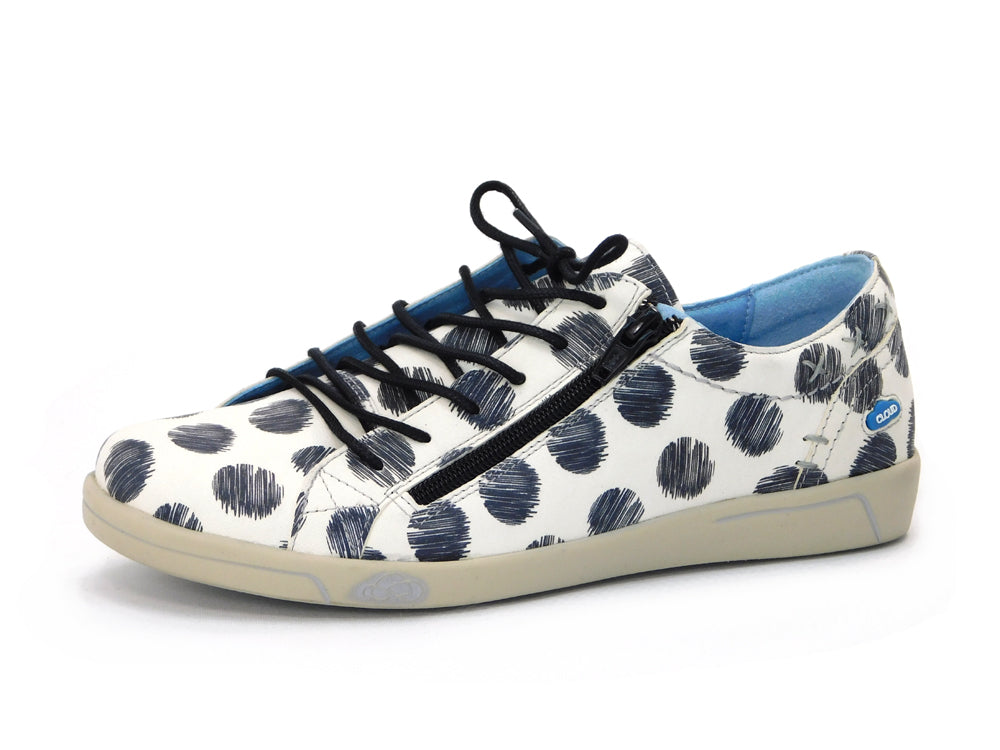 Cloud Aika Sneaker Circles White/Black - Sneakers - Cloud - shoostore