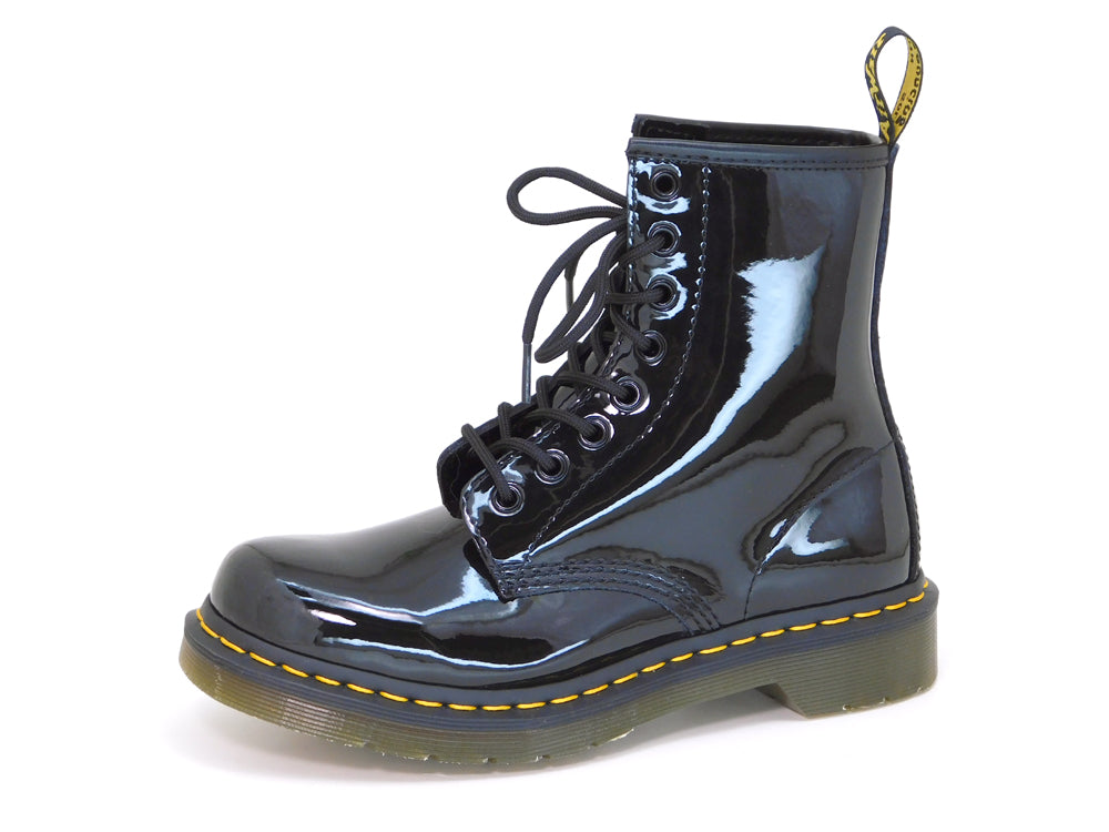 Dr. Martens Women's 1460W Black Patent Leather Lace up Boot - Boot - Dr. Martens - shoostore