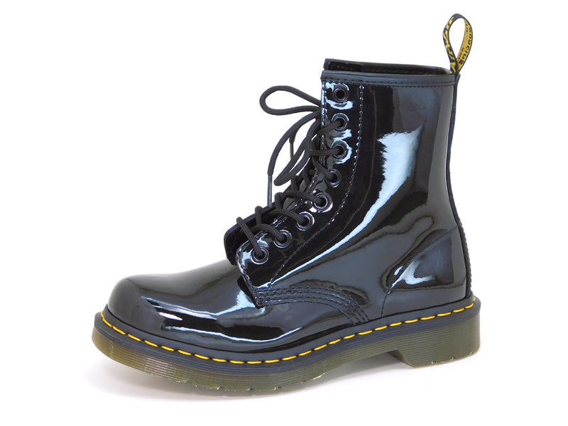 Dr. Martens Women's 1460W Black Patent Leather Lace up Boot