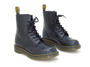 Dr. Martens Women's 1460W Black Smooth Leather Lace up Boot