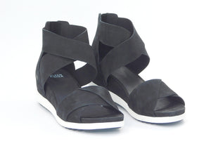 Eileen Fisher Viv Black Nubuck Sandal - Sandals - Eileen Fisher - shoostore