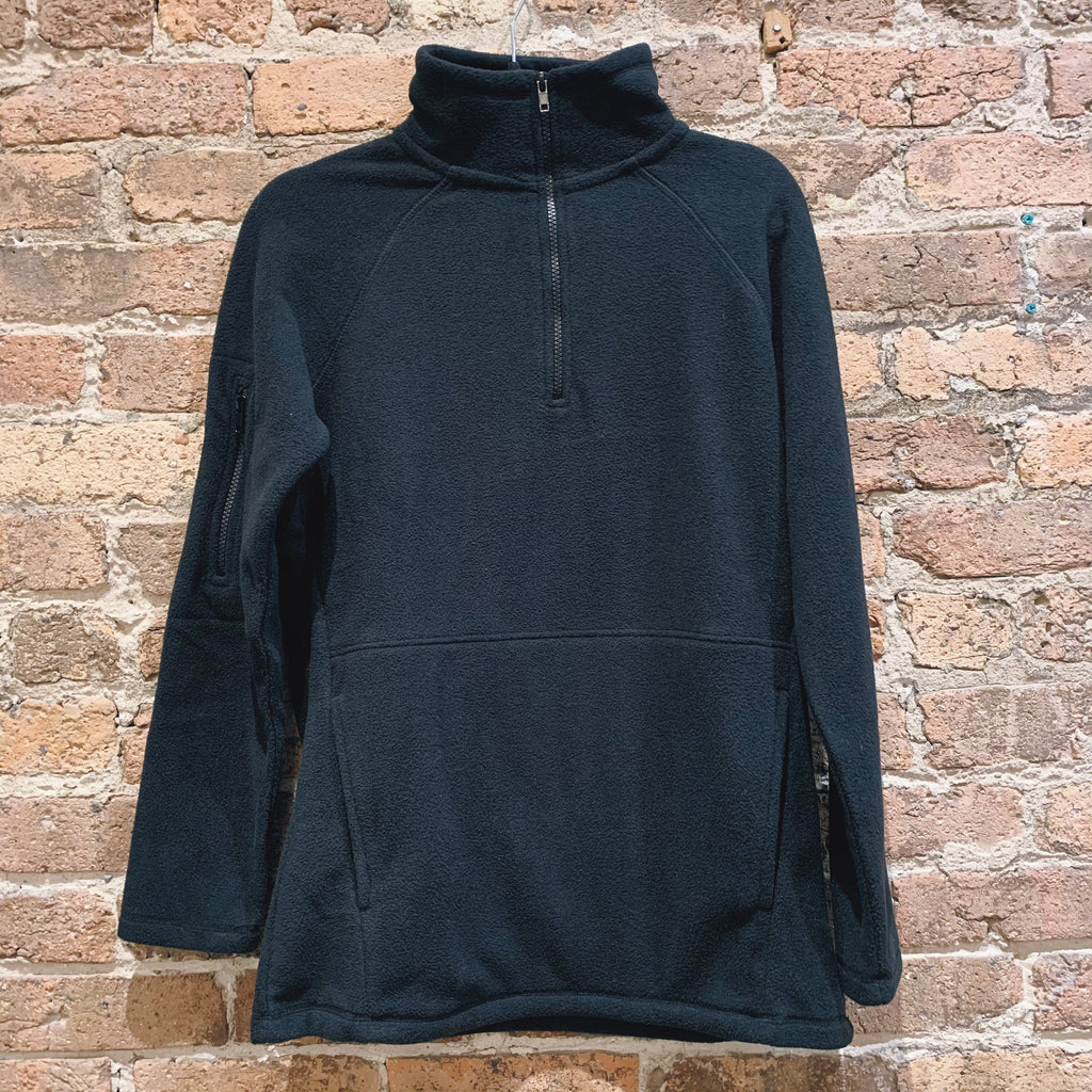 Mono B Black Fleece 1/2 Zip Sweatshirt