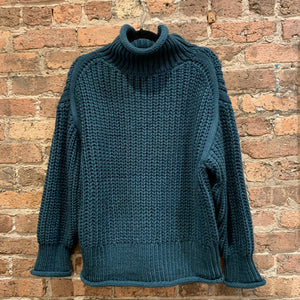 POL Teal Chunky Knit Sweater