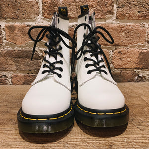 Dr. Martens Women's 1460 White Smooth Leather Lace up Boot