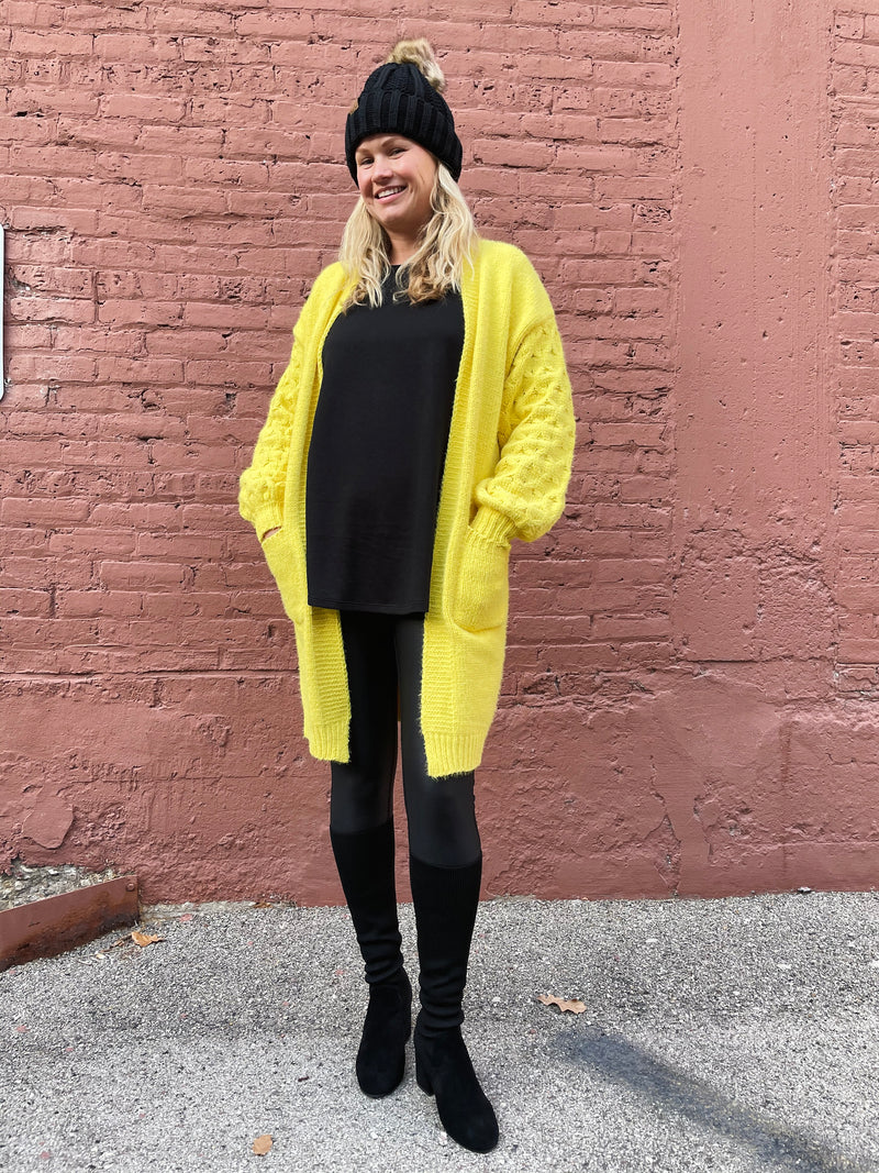 Very Moda Bright Yellow Cozy Cardigan