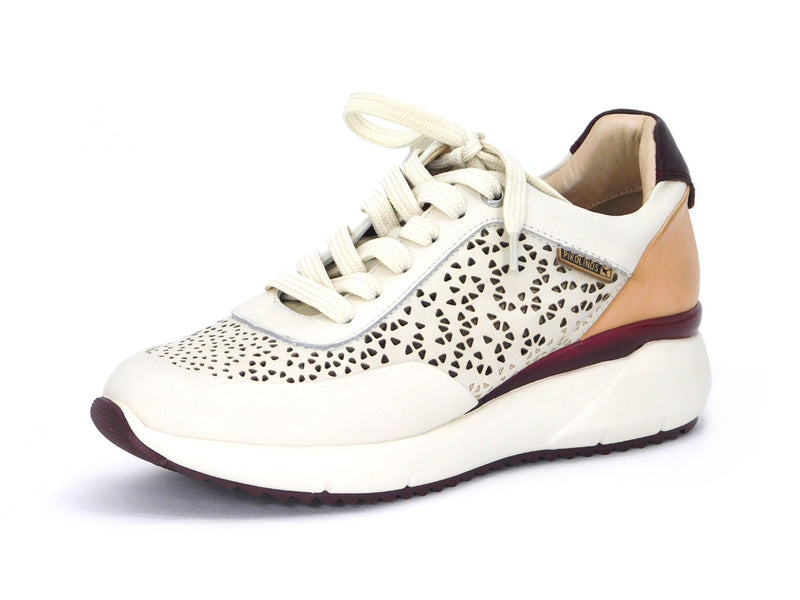 Pikolinos W6Z-6869C1 Perforated White Sneaker - shoostore