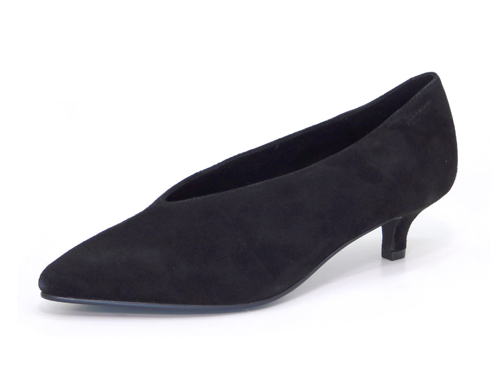 Minna Black Suede Kitten Heel - Heels - Vagabond Shoemakers - shoostore