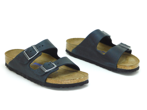 Birkenstock Arizona Black Oiled Leather - Sandals - Birkenstock - shoostore