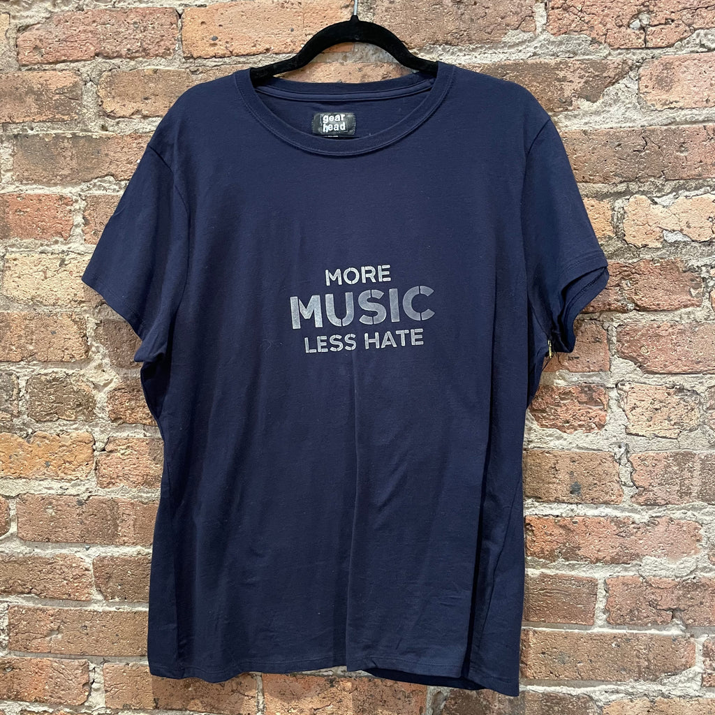 Gearhead More Music Less Hate T-Shirt