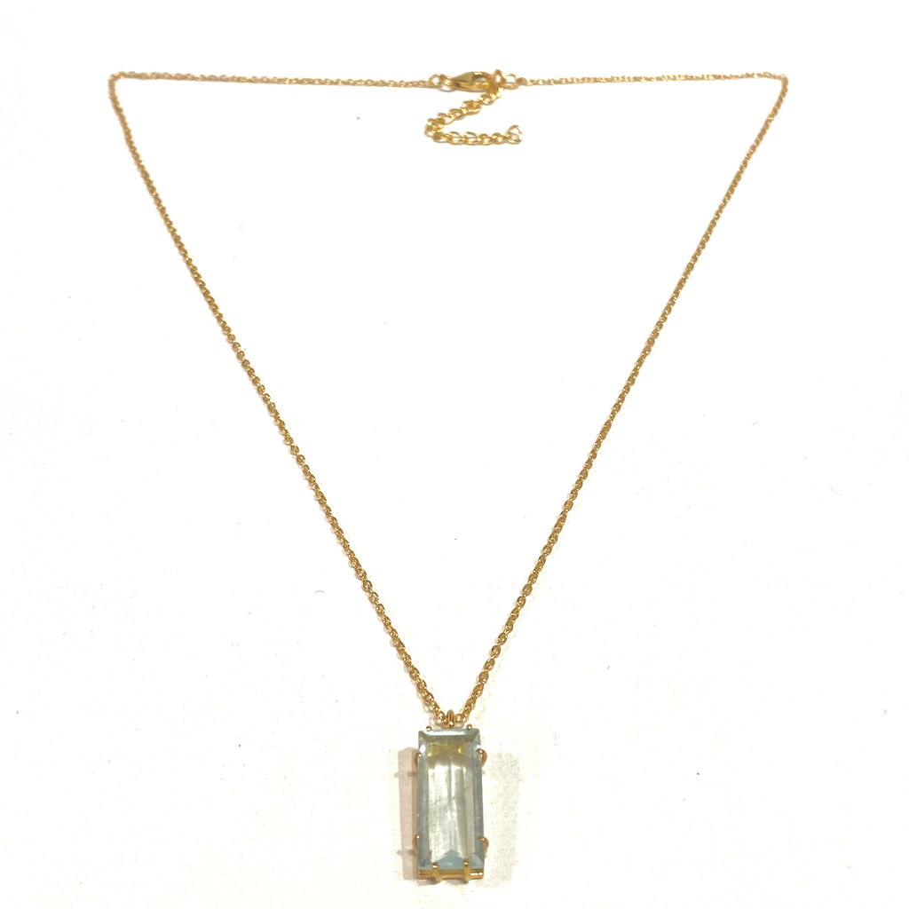 Avaasi Rectangle Aquamarine Necklace