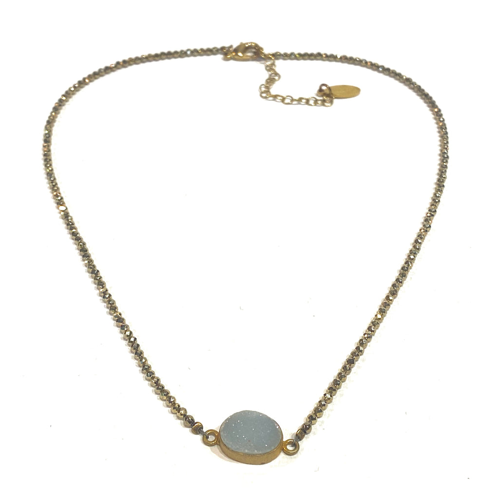 Avaasi Oval Druzy Necklace