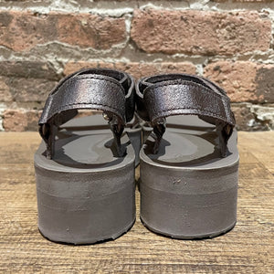 Teva Flatform Universal Metallic Bronze Leather