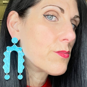 Moon-Seed Gisele Earrings Blue
