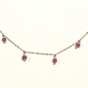 Avaasi Pearl & Red Spinel Necklace