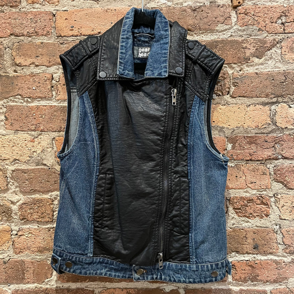 Gearhead Denim and Leather Vest
